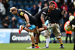 \Back row pairing London Wasps' James Haskell, man of the match, and London Wasps' Nathan Hughes perform their special handshake - Rugby Union - 2014 / 2015 Aviva Premiership - Wasps vs. Bath - Adams Park Stadium - London - 11/10/2014 - Pic Charlie Forgham-Bailey/Sportimage