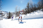 10 MAR 2016:  Lars Hannah (35) of the University of Denver competes in the 10K skate during the NCAA Division I Men's and Women's Skiing Championships take place at Howelsen Hill Ski Area in Steamboat Springs, CO.    Hannah placed 8th with a 22:56.9 time.  Jamie Schwaberow/NCAA Photos