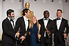 Anthony Katagas, Jeremy Kleiner, Dede Gardner, Steve McQueen, and Brad Pitt pose with their Oscars<br /> 86TH OSCARS<br /> The Annual Academy Awards at the Dolby Theatre, Hollywood, Los Angeles<br /> Mandatory Photo Credit: &copy;Dias/Newspix International<br /> <br /> **ALL FEES PAYABLE TO: &quot;NEWSPIX INTERNATIONAL&quot;**<br /> <br /> PHOTO CREDIT MANDATORY!!: NEWSPIX INTERNATIONAL(Failure to credit will incur a surcharge of 100% of reproduction fees)<br /> <br /> IMMEDIATE CONFIRMATION OF USAGE REQUIRED:<br /> Newspix International, 31 Chinnery Hill, Bishop's Stortford, ENGLAND CM23 3PS<br /> Tel:+441279 324672  ; Fax: +441279656877<br /> Mobile:  0777568 1153<br /> e-mail: info@newspixinternational.co.uk
