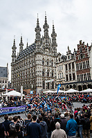 rolling out in front of the historic Leuven town hall<br />