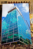 Commercial projects and works sold - large abstract reflection on canvas for 3PNC building.
