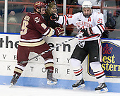 Barry Almeida (BC - 9), Chris Donovan (NU - 23) - The Northeastern University Huskies defeated the Boston College Eagles 3-2 on Friday, February 19, 2010, at Matthews Arena in Boston, Massachusetts.
