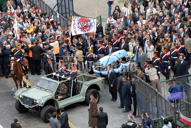 Funeral of former President of Argentina Raul Alfonsin, considered the father of the country modern democracy.Alfonsin died at the age of 82, was mourned at the National Congress and thousands of people accompanied him in his last trip to Recoleta cementery.