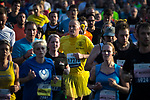 © Joel Goodman - 07973 332324. 15/10/2017 . Manchester , UK . Athletes taking part in the Greater Manchester Half Marathon in Old Trafford . Photo credit : Joel Goodman