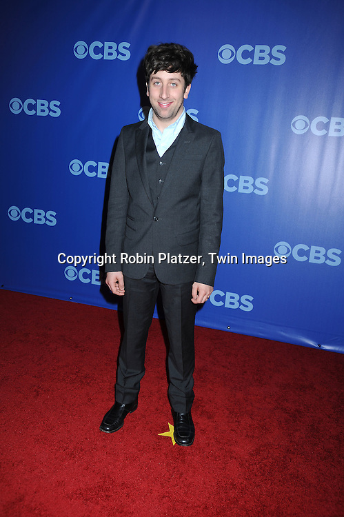 "Simon Helberg of ""The Big Bang Theory""  attending the CBS Network 2010 Upfront on May 19, 2010 at Lincoln Center in New York city."