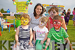 Enjoying the family fun day was l-r Lilly Brosnan, Lorraine Daly, Caoimhe Cahill, Kathleen Harnett and Cillian Cahill, pictured last SUnday in The Grove.