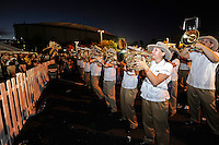 20 December 2011:  FIU's band performs for tailgaters prior to the game.  The Marshall University Thundering Herd defeated the FIU Golden Panthers, 20-10, to win the Beef 'O'Brady's St. Petersburg Bowl at Tropicana Field in St. Petersburg, Florida.