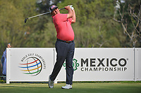 Jason Dufner (USA) watches his tee shot on 18 during round 2 of the World Golf Championships, Mexico, Club De Golf Chapultepec, Mexico City, Mexico. 3/2/2018.<br /> Picture: Golffile | Ken Murray<br /> <br /> <br /> All photo usage must carry mandatory copyright credit (&copy; Golffile | Ken Murray)