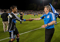 Santa Clara, CA -Saturday, April 21, 2012: The San Jose Earthquakes beat Real Salt Lake 3-1 in stoppage time to take the lead in the Western Conference. Photo by John Todd/San Jose Earthquakes.