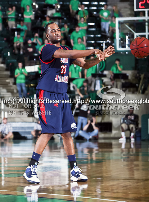South Alabama Jaguars guard Tim Williams (33) in action during the NCAA  basketball game between the South Alabama Jaguars and the University of North Texas Mean Green at the North Texas Coliseum,the Super Pit, in Denton, Texas. UNT defeated South Alabama 82 to 79...