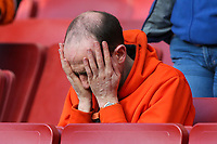 Blackpool U18's supporters<br /> <br /> Photographer Andrew Kearns/CameraSport<br /> <br /> Emirates FA Youth Cup Semi- Final Second Leg - Arsenal U18 v Blackpool U18 - Monday 16th April 2018 - Emirates Stadium - London<br />  <br /> World Copyright &copy; 2018 CameraSport. All rights reserved. 43 Linden Ave. Countesthorpe. Leicester. England. LE8 5PG - Tel: +44 (0) 116 277 4147 - admin@camerasport.com - www.camerasport.com