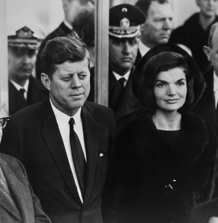 President John F. Kennedy with wife Jacqueline Lee Bouvier.  Printed in November 1983. (Photo by Dev O'Neill/CQ Roll Call via Getty Images)