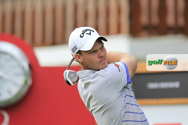 Danny WILLETT (ENG) tees off the 2nd tee during Thursday's Round 1 of the 2014 Omega European Masters held at the Crans Montana Golf Club, Crans-sur-Sierre, Switzerland.: Picture Eoin Clarke, www.golffile.ie: 4th September 2014