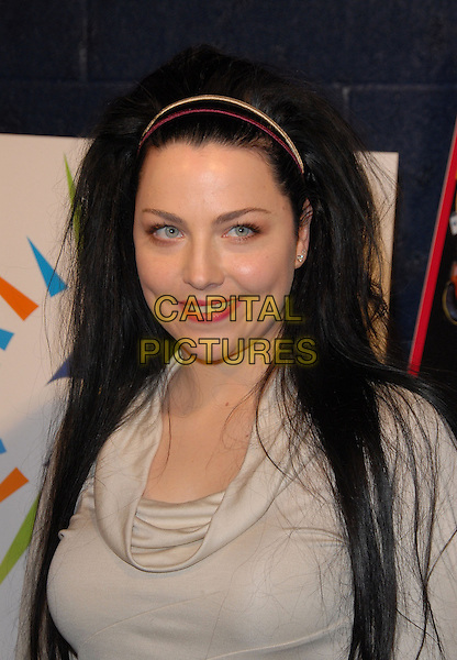 AMY LEE - EVANESCENCE.49th Annual GRAMMY Awards Nominations Announcement in Hollywood, California, USA. .December 7th, 2006.headshot portrait alice band cream beige top cowl neck cowel .CAP/DVS.©Debbie VanStory/Capital Pictures