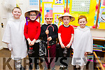 "Moyderwells National School's 2nd class getting ready for their ""Children of the World"" Christmas play on Wednesday morning. L-r Adam Kenneth Robinson, Andrew O'Connor, David Balog, Marcus Conway and Cathal Carr."