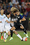 Saki Kumagai (JPN), Alex Morgan (USA), JUNE 2, 2016 - Football / Soccer : Women's International Friendly match between United States 3-3 Japan at Dick's Sporting Goods Park in Commerce City, Colorado, United States. (Photo by AFLO)