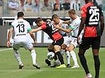 v.li., Lars Stindl (Borussia Moenchengladbach), Marvin Plattenhardt (Hertha BSC), Stefan Lainer (Borussia Moenchengladbach), Christoph Kramer (Borussia Moenchengladbach)<br /><br />27.06.2020, Fussball, 1. Bundesliga, Saison 2019/2020, 34. Spieltag, Borussia Moenchengladbach - Hertha BSC Berlin,<br /><br />Foto: Johannes Kruck/POOL / via / Meuter/Nordphoto<br />Only for Editorial use