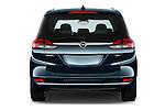 Straight rear view of 2017 Opel Zafira Innovation 5 Door Mini MPV Rear View  stock images
