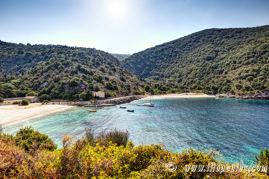The beaches of Agia Jerusalem in Kefalonia island, Greece