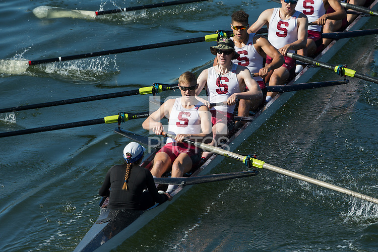 REDWOOD CITY, CA - APRIL 29, 2017: Cal and Stanford compete in The Big Row.