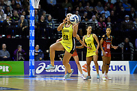 Pulse&rsquo; Tiana Metuarau in action during the ANZ Premiership - Pulse v Tactix at TSB Arena, Wellington, New Zealand on Monday 14 May 2018.<br /> Photo by Masanori Udagawa. <br /> www.photowellington.photoshelter.com