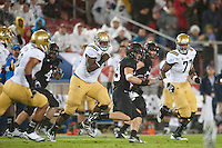 STANFORD, CA-NOVEMBER 30, 2012 - Ed Reynolds makes a first half interception against UCLA during the PAC-12 Championship at Stanford Stadium.
