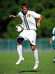 1 September 2009: University of Vermont Catamount backfielder/midfielder Seth Rebeor, a Freshman from Fairfax, VT, in action against the Siena College Saints at Centennial Field in Burlington, Vermont. The Saints edged out the Catamounts 1-0. Mandatory Photo Credit: Ed Wolfstein Photo