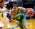 Apr. 5, 2011; Skylar Diggins drives to the basket in the NCAA Women's National Championship game...Photo by Matt Cashore/University of Notre Dame