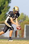 Palos Verdes, CA 10/20/11 - Max MacLeay (Peninsula #5) in action during the Leuzinger vs Peninsula JV football game.
