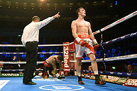 Willy Hutchinson (white shorts) defeats Borislav Zankov during a Boxing Show at the Royal Albert Hall on 27th September 2019