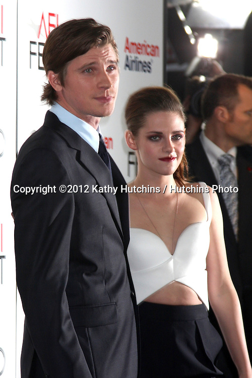 "LOS ANGELES - NOV 3:  Garrett Hedlund, Kristen Stewart arrives at the AFI Film Festival 2012  ""On the Road"" Gala Screening at Los Angeles on November 3, 2012 in Graumans Chinese Theater, CA"