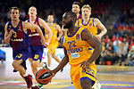 Turkish Airlines Euroleague 2018/2019. <br /> Regular Season-Round 30.<br /> FC Barcelona Lassa vs Khimki Moscow Region: 83-74. <br /> Charles Jenkins.
