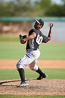Chicago White Sox pitcher Jendersson Caraballo (60) during an Instructional League game against the San Francisco Giants on October 10, 2016 at the Camelback Ranch Complex in Glendale, Arizona.  (Mike Janes/Four Seam Images)