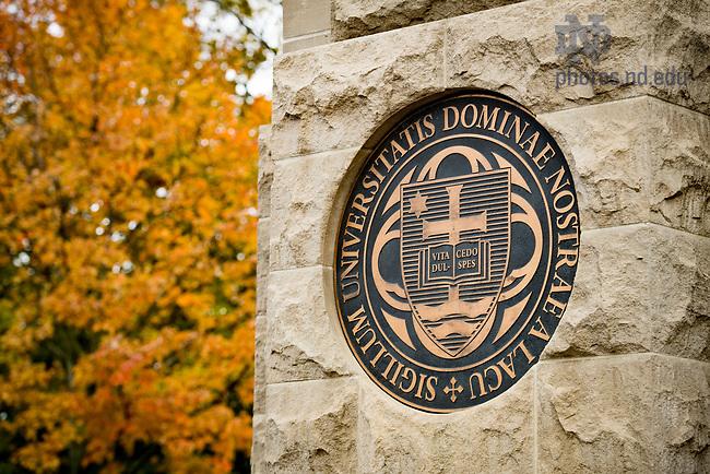 November 3, 2017; Campus south entrance (Photo by Matt Cashore/University of Notre Dame)