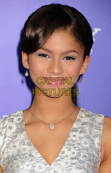 "Zendaya Coleman.arriving at the Los Angeles premiere of ""Sparkle"" at Grauman's Chinese Theatre in Hollywood, California, USA, .August 16th, 2012..portrait headshot silver white sleeveless .CAP/ROT/TM.©Tony Michaels/Roth Stock/Capital Pictures"