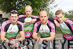 Mike Kissane, John Kissane, Jack O'Connor and Conor Kissane Killarney who competed in the Currow CC fun cycle on Sunday .