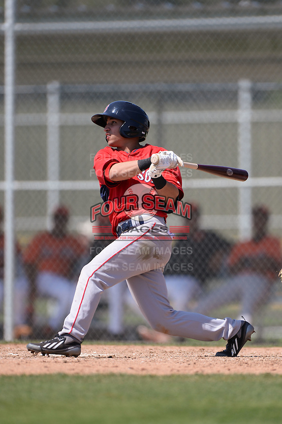 Boston Red Sox Jeremy Rivera (11) during a minor league spring training game against the Baltimore Orioles on March 18, 2015 at Buck O'Neil Complex in Sarasota, Florida.  (Mike Janes/Four Seam Images)