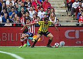 June 4th 2017, Estadi Montilivi,  Girona, Catalonia, Spain; Spanish Segunda División Football, Girona versus Zaragoza; ex Liverpool player Jose Enrique with the ball as he turns away from his marker