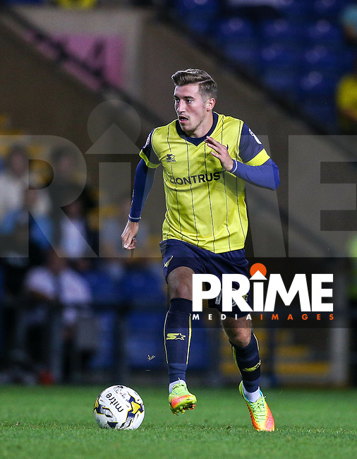 Joe Rothwell of Oxford United during the The Checkatrade Trophy match between Oxford United and Exeter City at the Kassam Stadium, Oxford, England on 30 August 2016. Photo by Andy Rowland / PRiME Media Images.