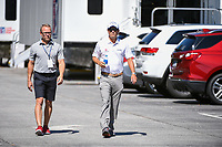 Kevin Kisner (USA) makes his way through the parking lot to the course before round 2 of the 2019 Tour Championship, East Lake Golf Course, Atlanta, Georgia, USA. 8/23/2019.<br /> Picture Ken Murray / Golffile.ie<br /> <br /> All photo usage must carry mandatory copyright credit (© Golffile | Ken Murray)