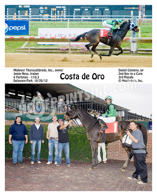 Costa de Oro winning at Delaware Park on 10/25/12