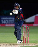 Imran Qayyum bats for Kent during the T20 Quarter-Final game between Kent Spitfires and Lancashire Lightning at the St Lawrence ground, Canterbury, on Aug 23, 2018.
