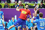 handball wordl cup match between Spain vs Slovenia. entrerios . 2015/01/23. Doha. Qatar. Alberto de Isidro.Photocall 3000