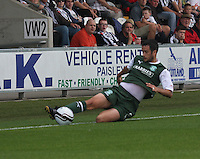 Tim Clancy in the St Mirren v Hibernian Clydesdale Bank Scottish Premier League match played at St Mirren Park, Paisley on 18.8.12.