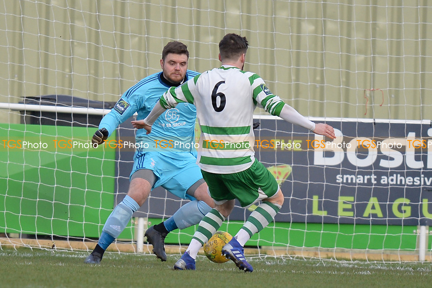 Jack Stevenson Of Waltham Abbey goes close during Waltham Abbey vs Bracknell Town, Bostik League South Central Division Football at Capershotts on 9th February 2019