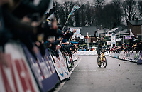 Toon Aerts (BEL/Telenet Fidea Lions) crossing the finish line and winning his first National Championships as a pro<br /> <br /> Elite Men's Race<br /> Belgian National CX Championschips<br /> Kruibeke 2019
