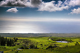 USA, Hawaii, The Big Island landscape with views of the Pacific Ocean off of road 250 on the way to Waimea