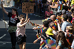 © Joel Goodman - 07973 332324 - all rights reserved . 24/08/2019. Manchester, UK. Sisters not Cisters placard .The 2019 Manchester Gay Pride parade through the city centre , with a Space and Science Fiction theme . Manchester's Gay Pride festival , which is the largest of its type in Europe , celebrates LGBTQ+ life . Photo credit: Joel Goodman/LNP
