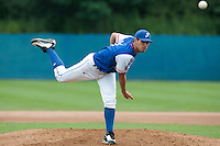 24 july 2010: Starting pitcher Joris Navarro of France pitches against Netherlands during Netherlands 10-0 victory over France, in day 2 of the 2010 European Championship Seniors, in Neuenburg, Germany.