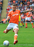 Blackpool's Jay Spearing in action<br /> <br /> Photographer Richard Martin-Roberts/CameraSport<br /> <br /> The EFL Sky Bet League One - Blackpool v Fleetwood Town - Monday 22nd April 2019 - Bloomfield Road - Blackpool<br /> <br /> World Copyright © 2019 CameraSport. All rights reserved. 43 Linden Ave. Countesthorpe. Leicester. England. LE8 5PG - Tel: +44 (0) 116 277 4147 - admin@camerasport.com - www.camerasport.com